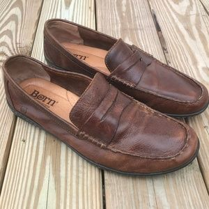 Born Mens Shoe Loafer Handcrafted Footwear Brown
